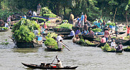 Bangladesh's floating gardens...