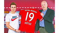Bayern red-faced by Goetze's T-shirt...