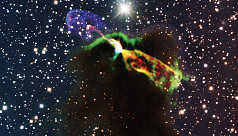 Telescope captures dramatic moment of...
