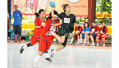School handball rolls into semis
