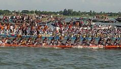 Boat race held in Meghna river in...
