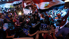 Egyptians protest after Sisi election...