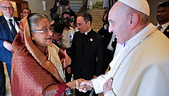 PM Sheikh Hasina to meet Pope Francis...