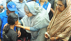 PM Hasina stands up for the...