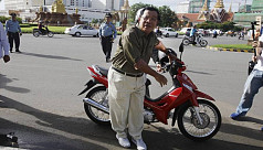 Cambodian PM fined for riding motorbike...