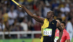 Unbeatable Bolt signs off with...