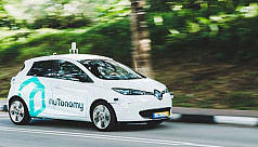 Self-driving taxi trial kicks off in...