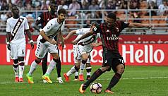 Bacca treble, Donnarumma save give Milan...