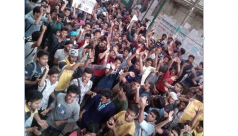 JnU students stage demo for...