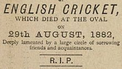 Death of English cricket and start of...