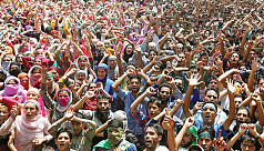 Protests intensify in Indian Kashmir...