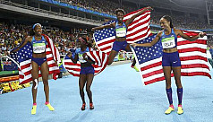 Felix gets record fifth gold as US win...