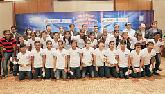 U-16 girls felicitated