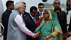 Modi sends bouquet to Sheikh Hasina...