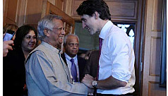 Canadian PM Trudeau and Yunus address...