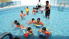 Swimming lessons yet to be introduced...