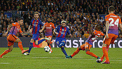 Messi treble as Guardiola suffers on...