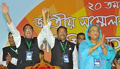 Hasina re-elected AL president, Obaidul...