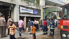 Karwan Bazar building catches fire