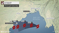 Cyclone Kyant moving slightly west