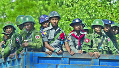 Terrified residents flee Rakhine state...