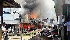 300 shops, houses gutted