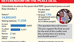 Colombians vote on peace deal after...