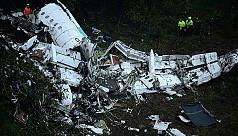 Plane carrying Brazilian club football...
