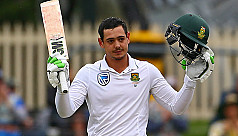 South Africa in control after De Kock...