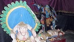 Hindu temples vandalised in Goalanda