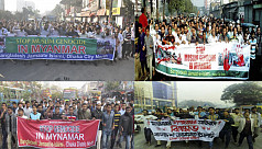 Jamaat protests Rohingya killings in...
