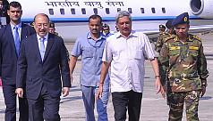 Indian defence minister visits...