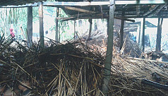 Hindu house torched in Narail