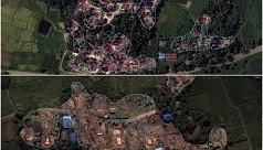 Satellite images show Myanmar Rohingya...
