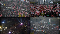 Thousands rally in Seoul to demand president's...