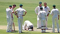 Voges concussed after struck on head...