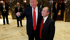Trump claims $50bn SoftBank investment...