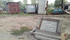 Toilets on martyrs' grave in...