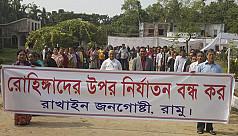 Rakhines protest Myanmar crackdown on...