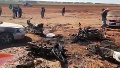 Car bomb near Syria town captured from...