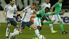 United ease past St Etienne but suffer...