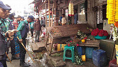 Shahbagh flower market evicted during...