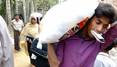Distribution of Malaysian aid to Rohingyas...