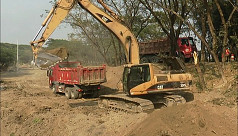 Construction of 6-lane express highway...