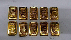 13 gold bars seized from passenger's...