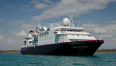 International cruise ship arrives in...