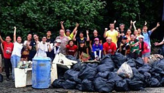 Volunteers clear 888kg rubbish from...