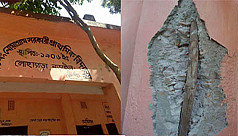Narail school building resorts to bamboo...