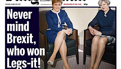 Backlash over Brexit battle of the legs...