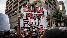 South Africans protest Zuma as country...
